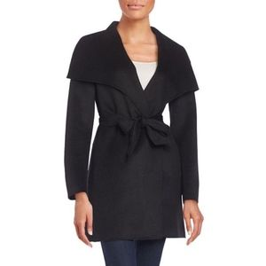 Tahari Ella Belt Double Face Wool Blend Wrap Coat